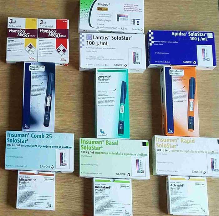 Insulin - lekovi kod nas u Srbiji - 2017 godine je napravljena ova slika